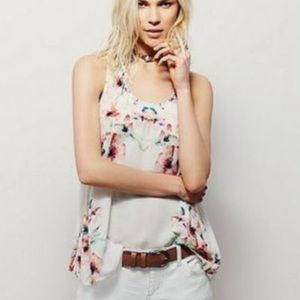Intimately Free People Floral Cross Open Back Tank